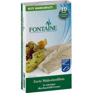Makrelenfilets in Bio-Senf-Dill-Creme