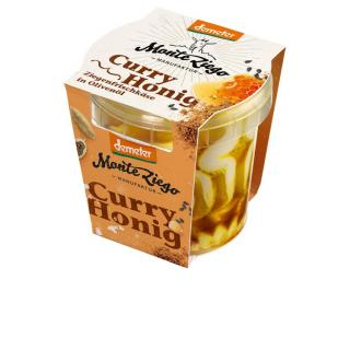 Ziegenfrischk. m. Curry-Honig in Olivenöl